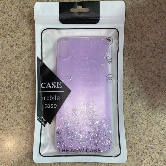 Purple glitter case (iPhone x)